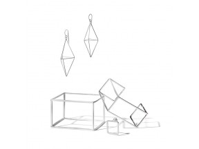 Prism Earrings, Cubic Cuff, Cuboid Bangle, Modi Pearl Ring
