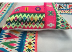 Vintage Pillows- Alpaca + Re-purposed Textiles