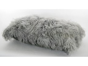 Grey Ostrich Feather YORKI Cushion