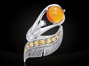 Dancing Lotus Silver & Gemstone Ring TRI580