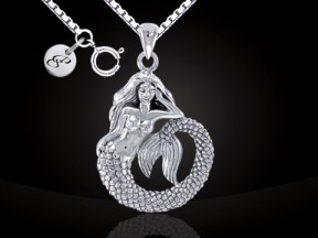 Mermaid Silver Necklace Set TSE691