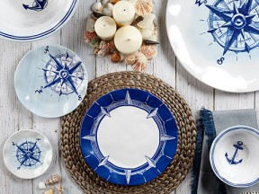 Portsmouth Sea-Inspired Melamine Dinnerware Collection