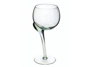 Crooked Red Wine Glass