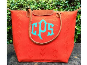 Mayan Orange Solid/Textured Tote TBM13