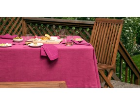 Raspberry collection table linens