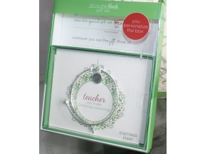 Teacher Fill-in-the-Blank gift set - Green
