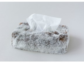 Tissue Box cover - Faux Fur