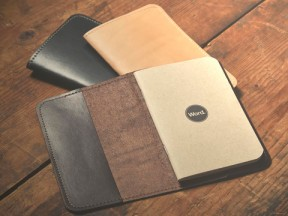 Word. Leather Notebook Sleeve