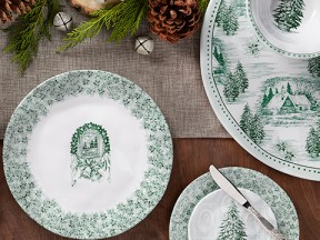 Yuletide Melamine Dinnerware Collection