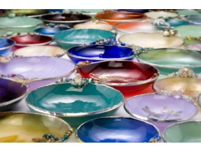 Beaded Glass Bowls