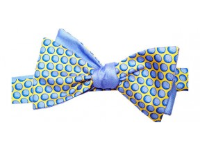 Blue (Golf) Balls Reversible Bow Tie