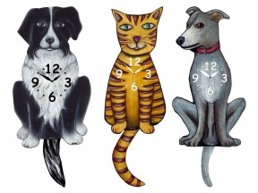cat and Dog Clocks