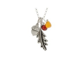 fall botanical combination necklace