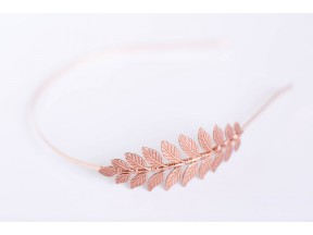 Simple Goddess Leaf Headband - Rose Gold