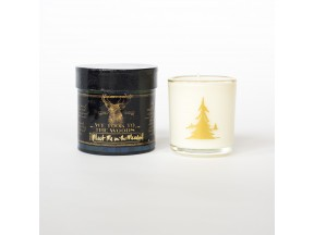 We Took to the Woods Tartan Candles