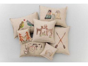 Embroidered Linen Accent Pillows