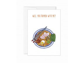 Greeting Card 'Will you ramen with me?'