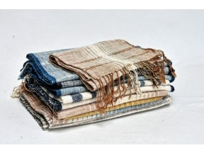 Handwoven Organic Handspun Cotton Throws, Scarves & Shaws