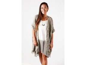 Hand-woven vest made from naturally dyed and up-cycled cotton