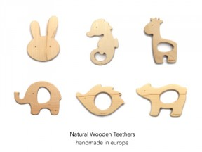 Handmade Natural Wooden Teethers