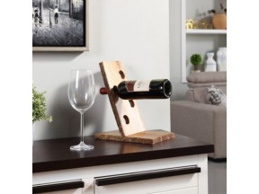 Danya B™ Four Bottle Floating Wine Holder with Bark