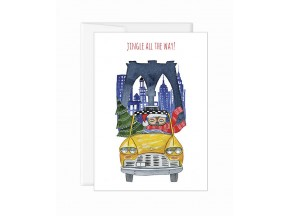 Holiday greeting card 'Yellow Cab Owl'