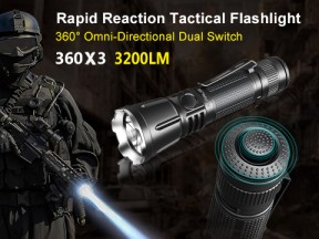 Klarus 360X3 - 360° Omni-Directional Dual Switch Rapid Action Tactical Flashlight