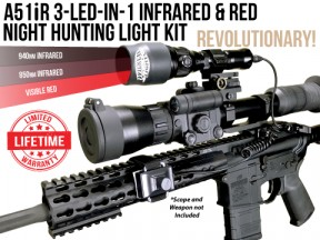 Wicked Lights A51iR 3-LED-In-1 Infrared Night Hunting Light Kit