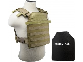 NcSTAR® Level IIIA hard ballistic plates and Fast Plate Carrier